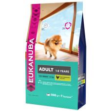 EUK Dog корм для взрослых собак миниатюрных пород 500 г