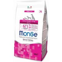 Monge Dog Extra Small корм для взрослых собак миниатюрных пород с курицей 800г