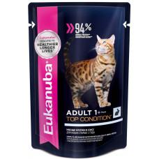 EUK Cat паучи корм для взрослых кошек с кроликом в соусе 85 г