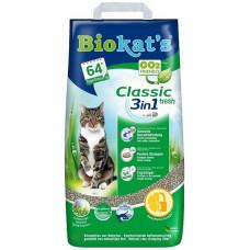 BIOKAT'S CLASSIC FRESH наполнитель комкующийся c ароматизатором 10 л (10 кг)