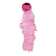 """KONG игрушка для кошек """"Дикий хвост"""" 18 см с хвостом из перьев"""