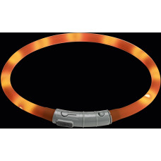 Hunter cветящийся шнурок на шею LED Yukon 20-70 см оранжевый