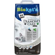 BIOKAT'S Diamond Care CLASSIC наполнитель комкующийся с активированным углем 8л