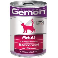 Gemon Cat консервы для кошек кусочки говядины 415г