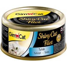 GimCat ShinyCat Filet консервы для кошек из тунца 70 г