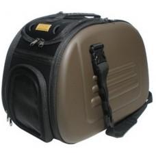 Ibiyaya складная сумка-переноска для собак и кошек до 6 кг коричневая