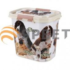 "Контейнер ""Dogs"" для корма овальный 10 л, 313х221х263 см"
