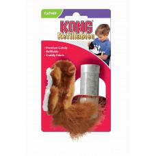 """KONG игрушка для кошек """"Белка"""" с тубом кошачьей мяты"""