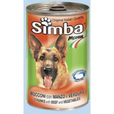 Simba Dog консервы для собак кусочки говядина с овощами 1230г