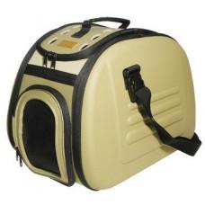 Ibiyaya складная сумка-переноска для собак и кошек до 6 кг бежевая