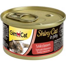 GimCat ShinyCat консервы для кошек из тунца с лососем 70 г