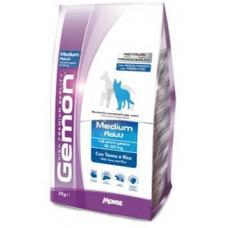 Gemon Dog Medium корм для взрослых собак средних пород тунец с рисом 3 кг