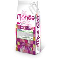 Monge Cat Monoprotein корм для взрослых кошек с кроликом 10 кг