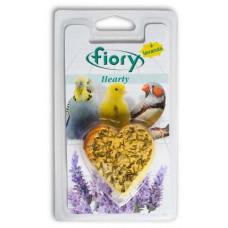FIORY био-камень для птиц Hearty с лавандой в форме сердца 45 г