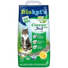 BIOKAT'S CLASSIC FRESH наполнитель комкующийся c ароматизатором 20 л (20 кг)