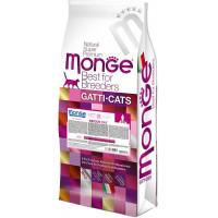 Monge Cat Indoor корм для домашних кошек 10 кг