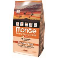 Monge Dog GRAIN FREE беззерновой корм для собак всех пород утка с картофелем 2,5 кг