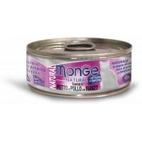 Monge Cat Natural консервы для кошек тунец с курицей и говядиной 80г