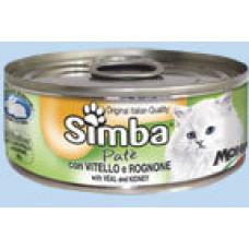 Simba Cat Mousse мусс для кошек телятина/почки 85г