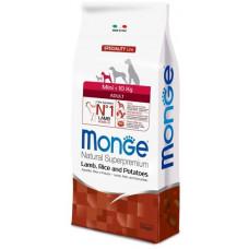 Monge Dog Speciality Mini корм для взрослых собак мелких пород ягненок с рисом и картофелем 7,5 кг