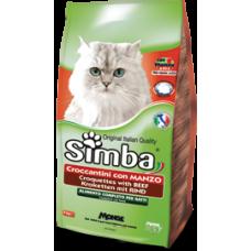 Simba Cat корм для кошек с говядиной 2 кг