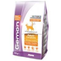 Gemon Cat корм для взрослых кошек с курицей и индейкой 400г