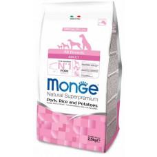 Monge Dog Speciality корм для собак всех пород свинина с рисом и картофелем 2,5 кг