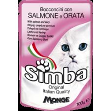 Simba Cat Pouch паучи для кошек лосось с камбалой 100г