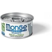 Monge Cat Monoprotein мясные хлопья для кошек из курицы с горошком 80г