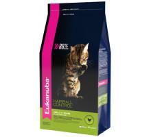 EUK Cat HAIRBALL корм для вывода шерсти из желудка с домашней птицей для кошек 2 кг