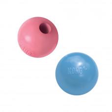 """KONG Puppy игрушка для щенков """"Мячик"""" под лакомства 6 см цвета в ассортименте: розовый, голубой"""